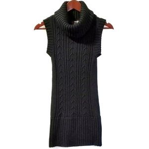 BB Dakota Black Cowl Neck Sleeveless Sweater